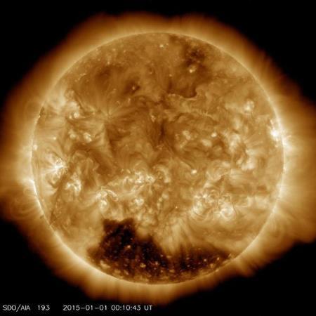 Интересное: Дыра на Солнце