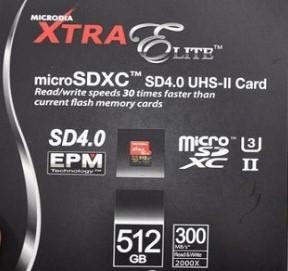 Технологии: microSD на 512 ГБ