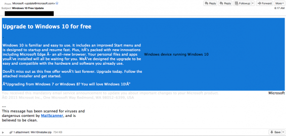 Технологии: Троян-обновление до Windows 10