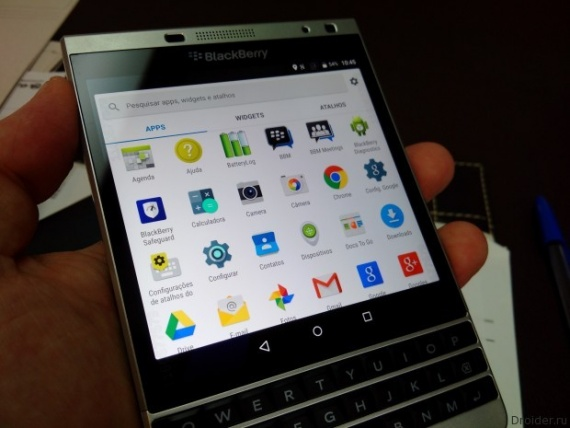 Технологии: BlackBerry Passport на Android