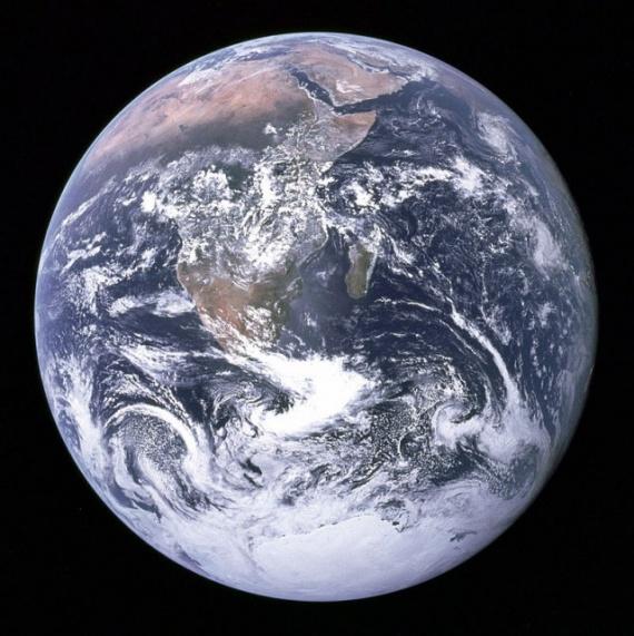 Интересное: Восход Земли над Луной
