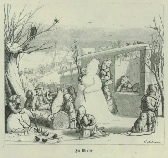 Интересное: Как появились снеговики