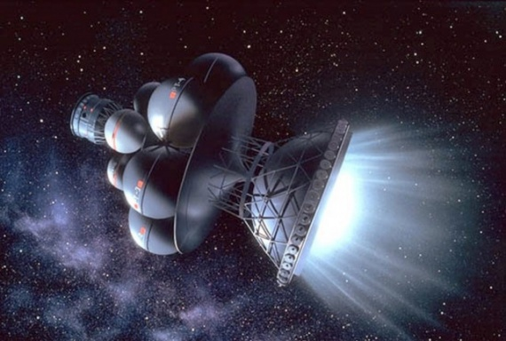 Обои на рабочий стол космос:космос, корабли, след, туманность, далёкие, звезды - скачать бесплатно