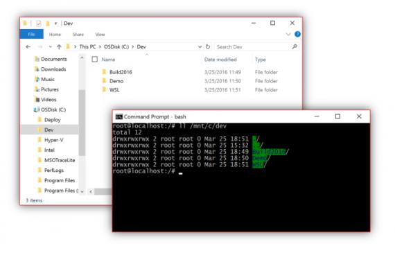 Технологии: Microsoft анонсировала оболочку BASH для Windows 10