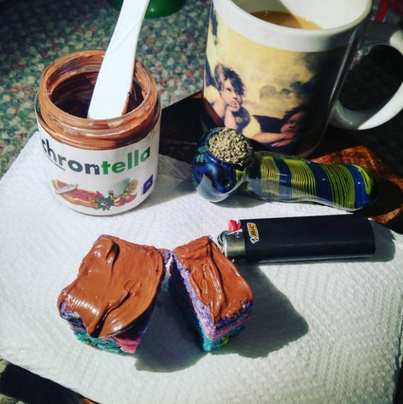 Безумный мир: Нутела с марихуаной