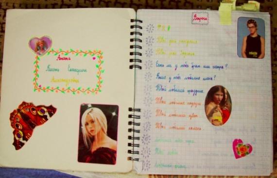 Как оформить свой дневник для девочек своими руками картинки