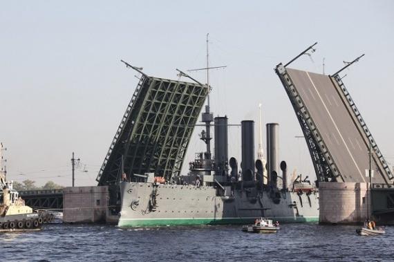 Интересное: Крейсер Аврора идет домой