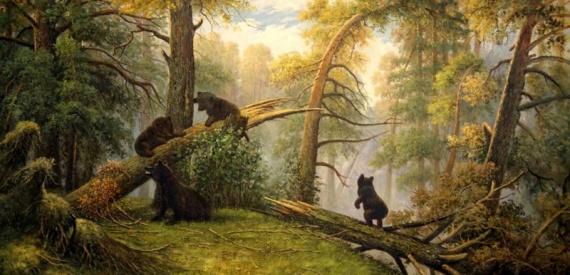 Юмор: Утро в сосновом лесу