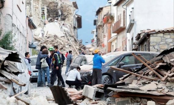 Проишествия: Сильное землетрясение в Италии
