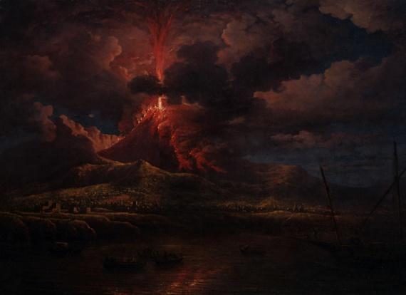 История: Извержение Везувия