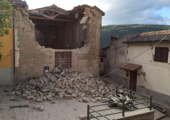 Проишествия: Землетрясение в Италии, фотографии до и после