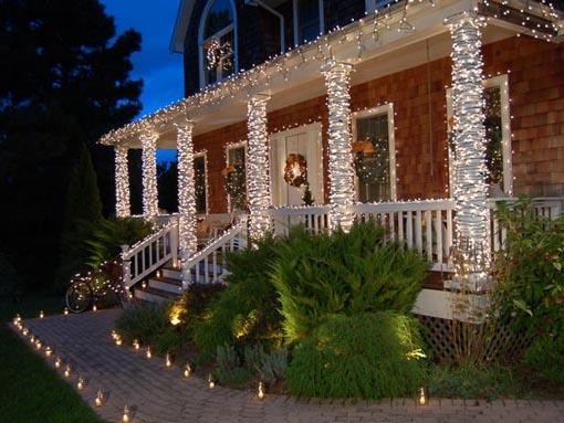 Блог djamix: Новогодняя иллюминация дома от студии Flordekor.com.ua