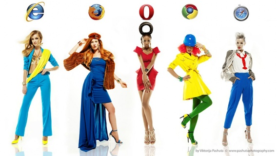 Картинки: Если бы браузеры были девушками