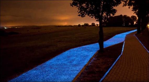 Интересное: Светящаяся велодорожка