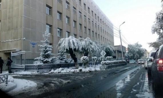 Природа: А в Омске уже зима...