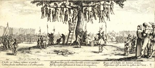 История: Cредневековая практика подвешивания в клетке