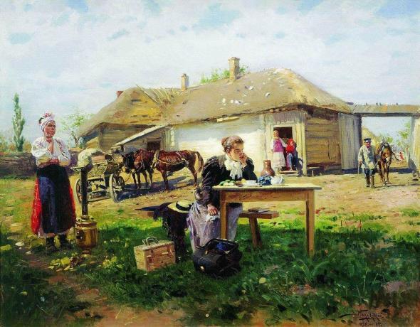 Интересное: Приезд учительницы в деревню: что на самом деле изображено на картине