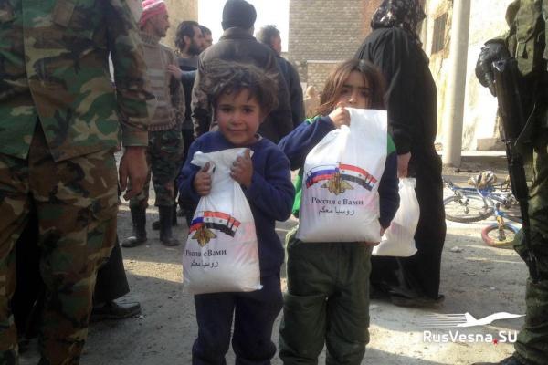 Война: Солдаты России и дети Сирии