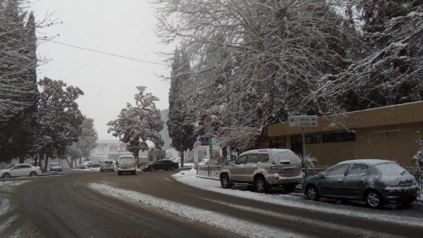 В Адлер пришла зима