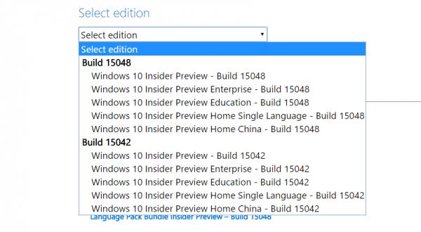 Технологии: Установочные образы сборки Windows 10 Creators Update 15048