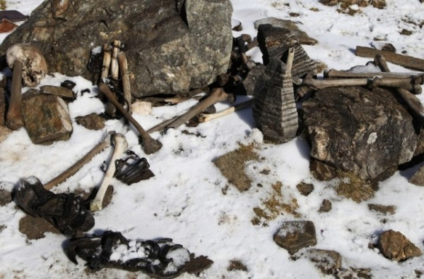 Интересное: Озеро Скелетов в Гималаях