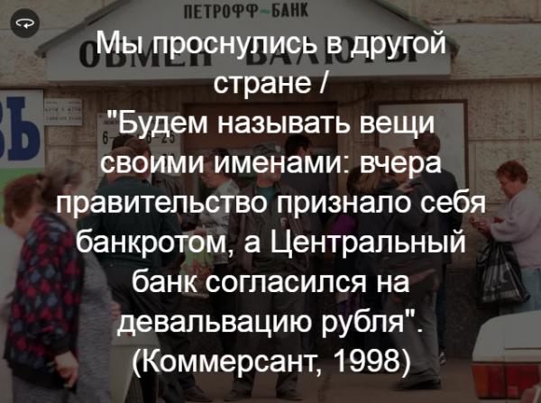 История: Россия в новостных заголовках 1999-го года
