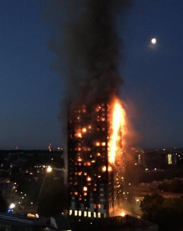 Происшествия: Сильнейший пожар в Лондоне
