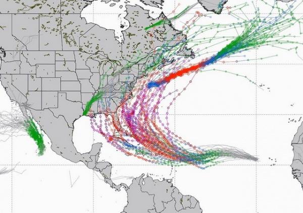 Природа: Ураган *Ирма* достиг максимальной категории мощности