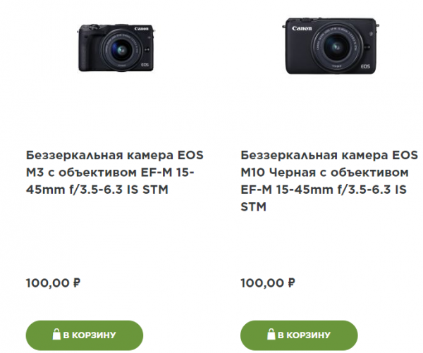 Блог djamix: Canon лажанул с интернет-магазином