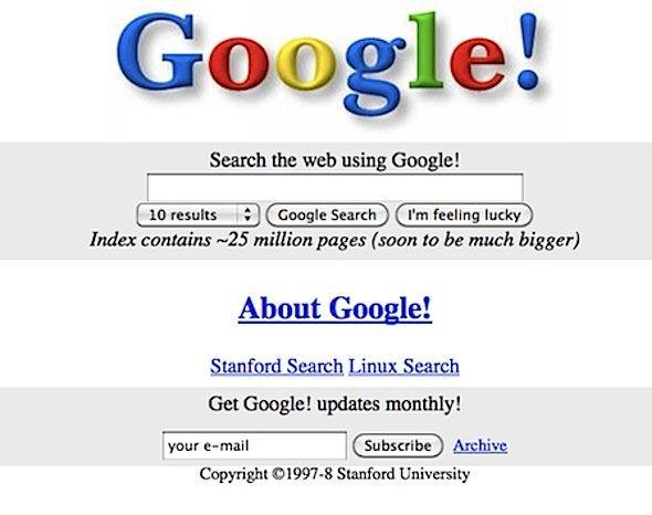 Технологии: Google исполнилось 20 лет
