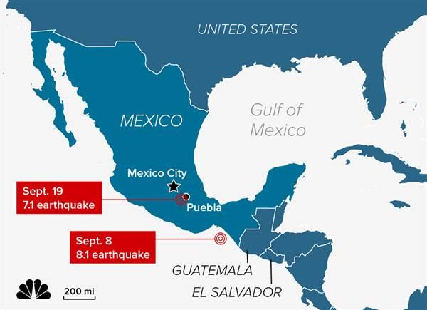 Происшествия: Землетрясение в Мехико