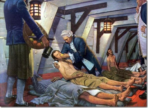 История: Пища моряков XVIII века