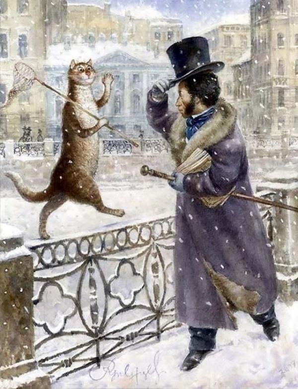 Картинки: Петербургские кошки Владимира Румянцева