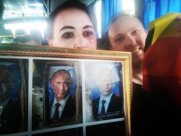 Либерасты: Либерастам и фрикам не дали пройти с флагами меджлиса, америки, пидарасов и украины по Петербургу