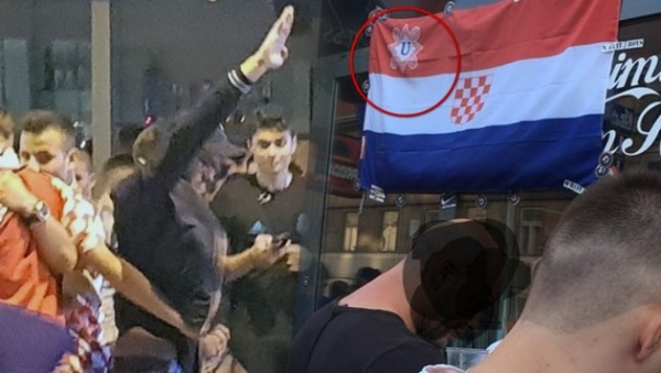 Блог djamix: В Австрии болельщики Хорватии подняли флаг «усташей»