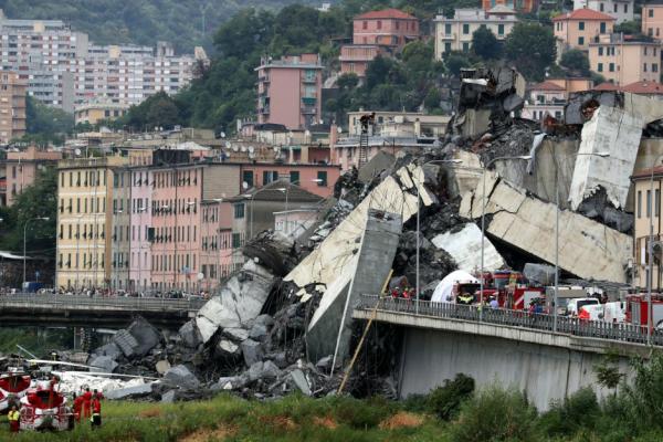 Происшествия: Обрушился Генуэзский мост, десятки погибших - заместитель премьер-министра