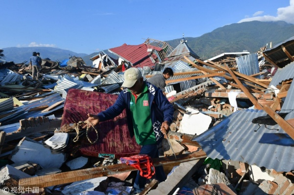 Происшествия: Свыше 152 тыс. человек остаются под завалами после землетрясения в Индонезии