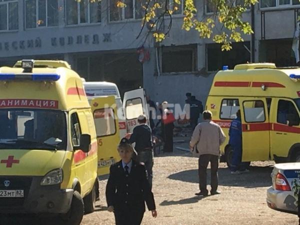 Происшествия: Десять человек погибли и 50 пострадали в результате взрыва в колледже в Крыму