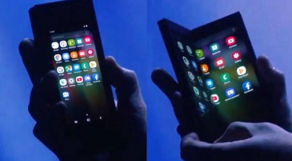 Технологии: Samsung представила сгибающийся телефон