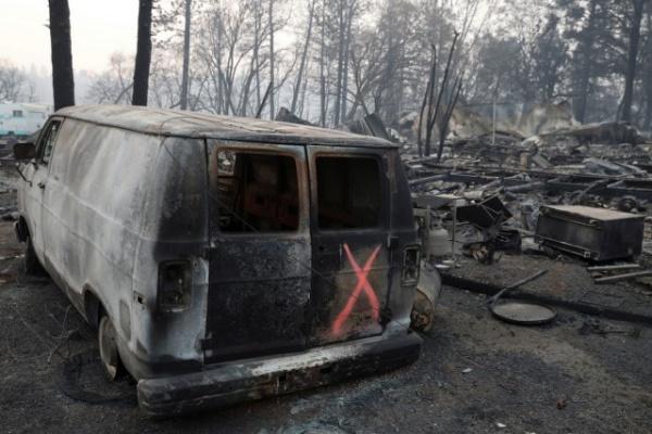 Происшествия: Последствия пожаров в Калифорнии