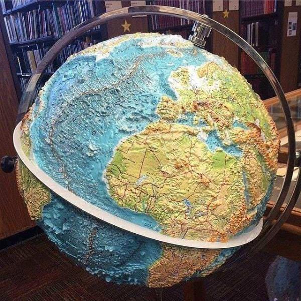 Природа: Топографический глобус