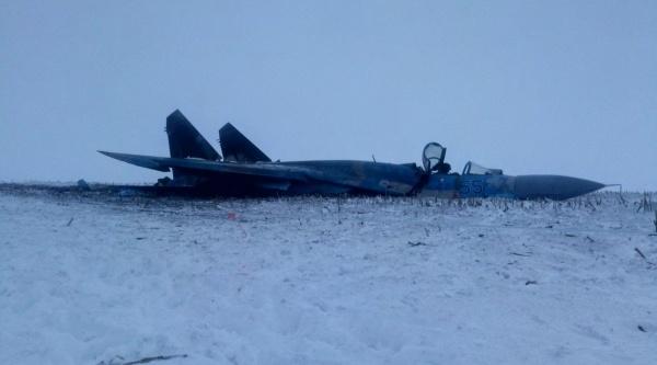 Блог djamix: Разбившийся украинский Су-27 под Житомиром
