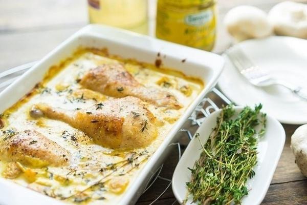 Полезные советы: Курица в горчичном соусе с грибами