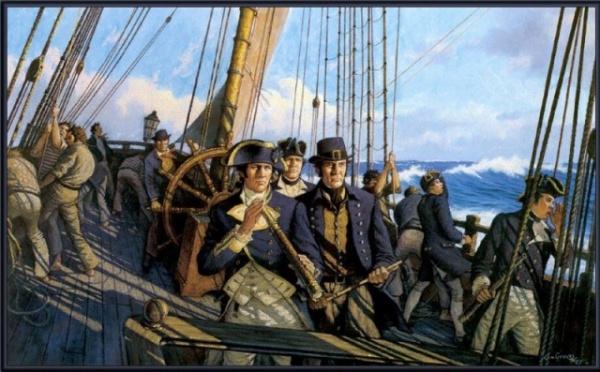 История: Протаскивание под килем - кара для провинившегося моряка