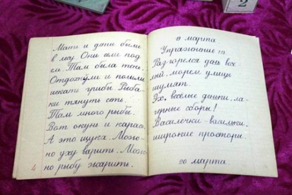История: Тетради по чистописанию советских школьников