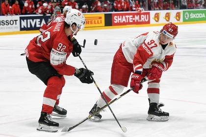 Спорт: Сборная России по хоккею одержала победу над национальной командой Швейцарии на чемпионате мира