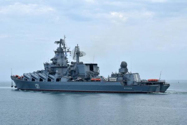 Новости: Ракетный крейсер Москва вышел в море впервые за три года