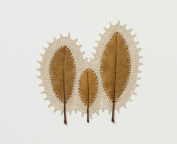 Интересное: Вязание крючком на листве
