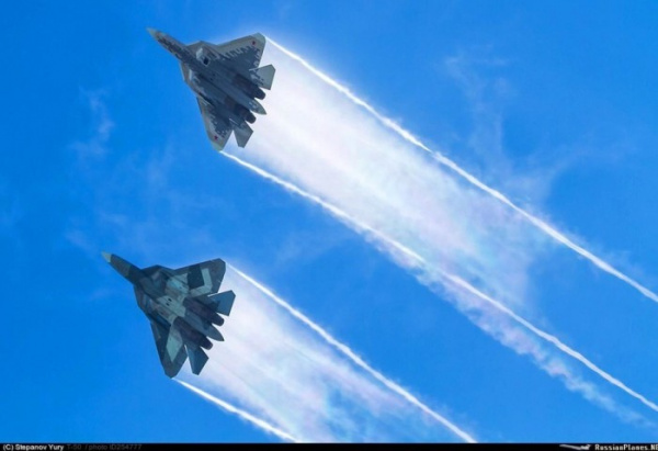 Интересное: Су - 57 над г. Жуковским готовились к выступлениям