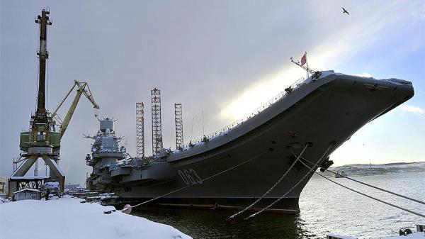 Происшествия: В Мурманской области произошел пожар на авианесущем крейсере Адмирал Кузнецов